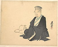 Portrait of Rikyû, 1875, zeshin