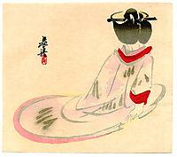 Sitting Lady, 1880, zeshin
