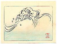 Wild Waves - Hana Kurabe, 1878, zeshin