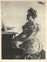 At the Piano, 1900, zorn