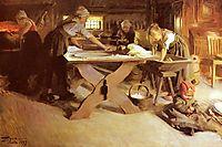 Baking the Bread, 1889, zorn