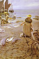 Fish market in St Ives, zorn