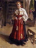 Girl in an Orsa Costume, 1911, zorn