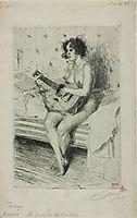 Guitar player, 1900, zorn
