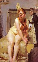 In the studio, 1896, zorn