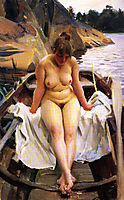 In Werner-s Rowing Boat, 1917, zorn