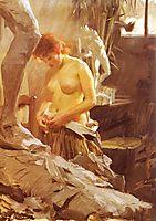 In Wikstrom Studio, 1889, zorn