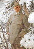 The Painter Bruno Liljefors, 1906, zorn