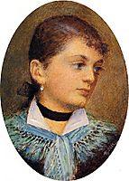 Portrait of AgusHolzer, 1879, zorn