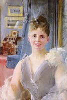 Portrait Of Edith Palgrave Edward In Her London Residence, zorn