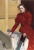Portrait of Emma in the Paris studio, 1894, zorn