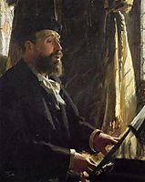 A Portrait of Jean Baptiste Faure, 1891, zorn