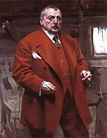 Self-portrait in red, 1915, zorn