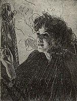 Smoking woman, 1907, zorn