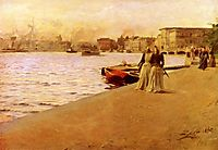 View from the Ship Island pier, 1890, zorn