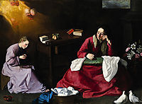 The House of Nazareth, 1640, zurbaran