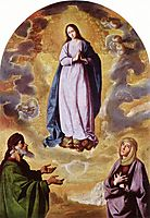 The Immaculate Conception with Saint Joachim and Saint Anne, 1640, zurbaran