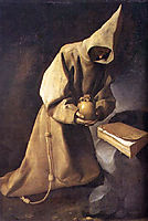 Meditation of St. Francis, 1632, zurbaran