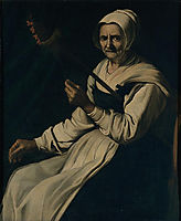 Old woman spinning, zurbaran