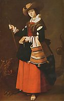 Saint Margaret, dressed as a shepherdess, c.1631, zurbaran