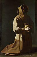 St. Francis Kneeling, 1639, zurbaran
