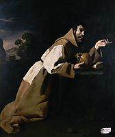 St. Francis in Meditation, 1639, zurbaran