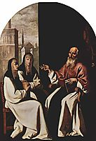 St. Jerome with St. Paula and St. Eustochium, 1640, zurbaran