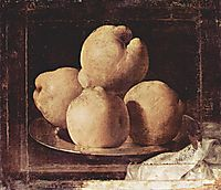 Still Life with Dish of Quince, 1664, zurbaran